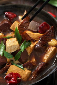 Hot pot preserved tofu & pork intestine