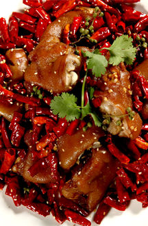 Xiaoxiang pork feet  with dried pepper and  secret seasoning